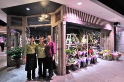 Our florist and employees outside the flower shop in Newcastle