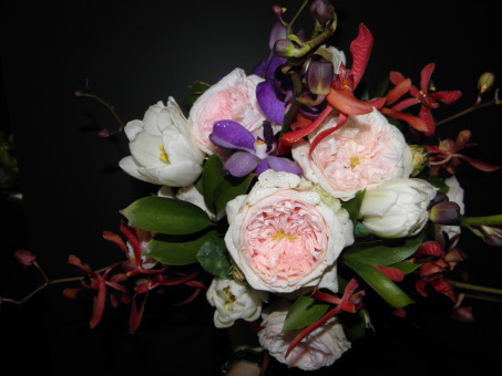 Andrea Bridal Bouquet - Orchids, Roses, Tulips