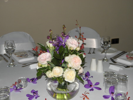 Andrea Centrepieces - Orchids, Roses, Tulips