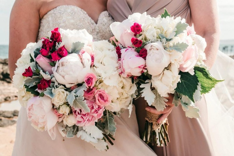 Bridal Bouquet - Roses, Cymbidiums, Oriental Lily