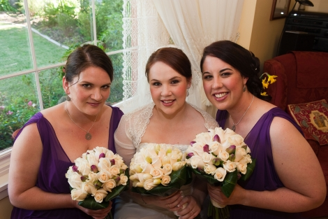 Kirsten & her gorgeous bridesmaids