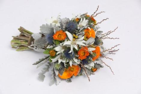 Sea Holly Bridal Bouquet