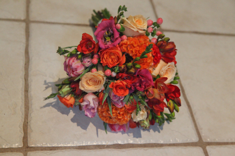 Pink and Orange Wedding Delight 1