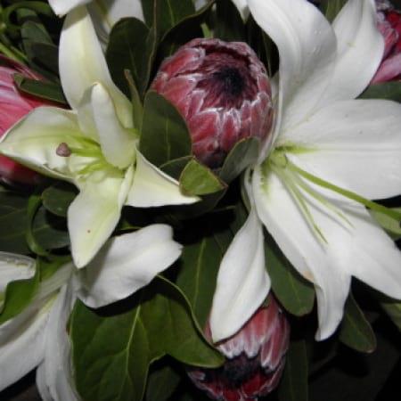 Oriental lily & native bouquet