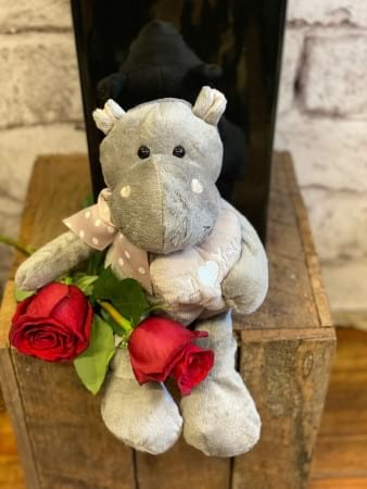 Soft Toy & Roses