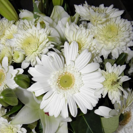Fresh White Flower Bouquet