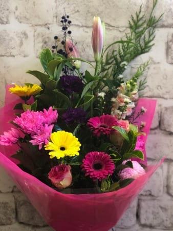 Oriental Lily, Gerbera, Chrys Bouquet
