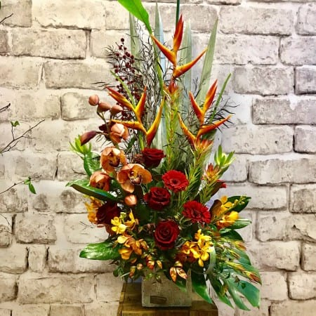Autumn Cymbidium Arrangement