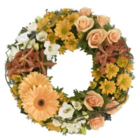 Sympathy Wreath Flower Arrangement, Delivery in Charlestown