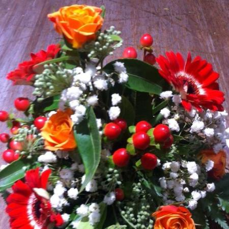 Christmas Teacup Flower Arrangement