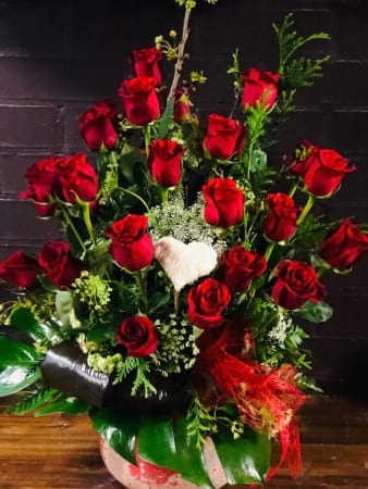 Dozen Red Roses in an Arrangement