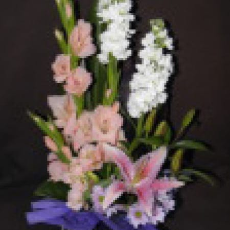 Tall Pink Flower Arrangement