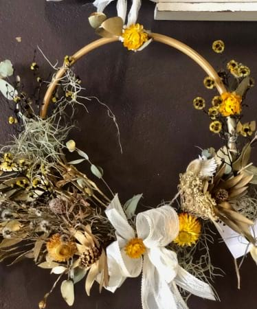 Golden Gifts of Christmas Wreath