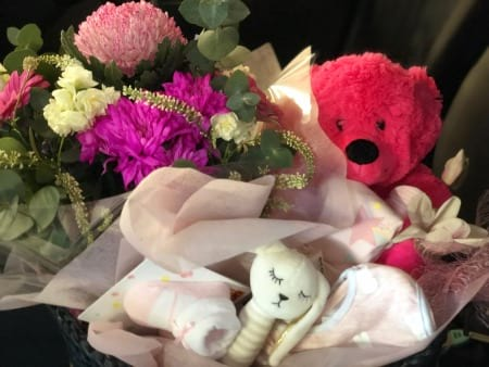 New Baby Hamper & Flowers