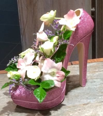 Pretty in Pink Floral Shoe