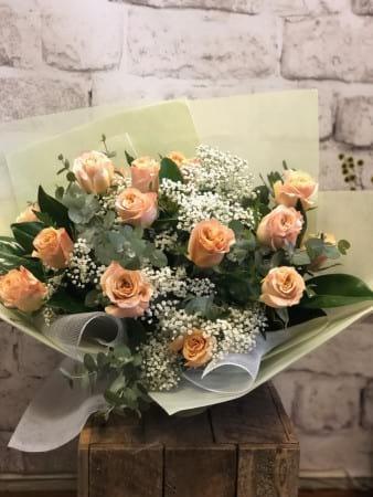 15 Coloured Roses fresh foliages