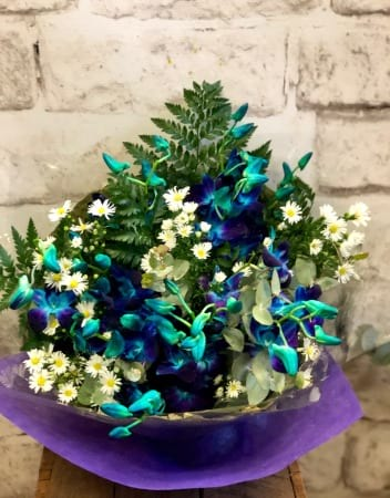 Blue Singapore Orchid Bouquet