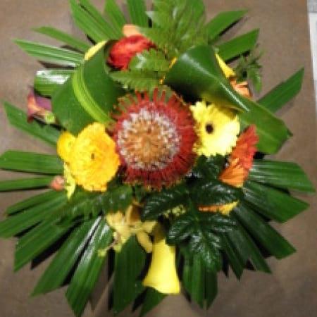 Autumn Colour Flower Arrangement in a Bowl