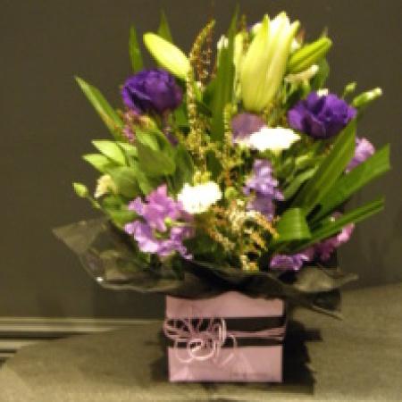 Violet Purple Flower Arrangement