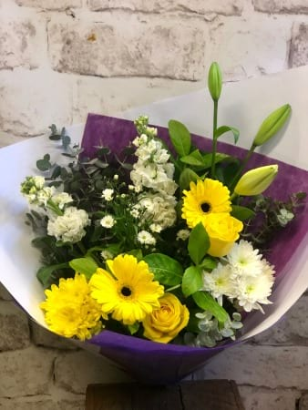 Yellow and White Flower Bouquet