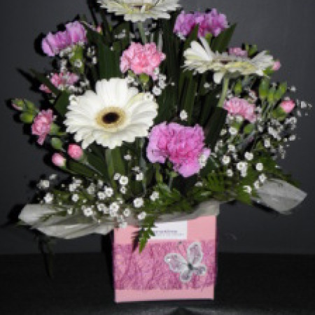 Pink & White Flower Arrangement