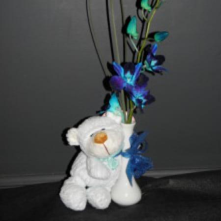 Teddy Bear & Flower