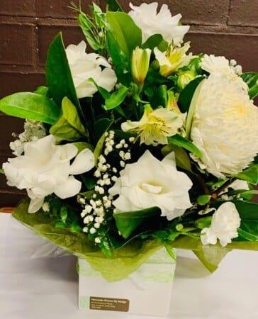 White Arrangement, Oriental Lily, Stock