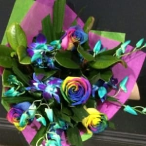 Rainbow Rose Dream Arrangement
