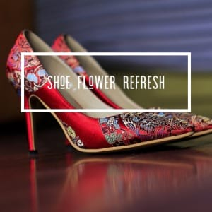 SHOE REFRESH - Fresh flowers replaced in your stiletto