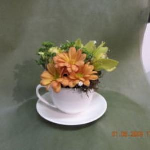 Autumn Teacup Arrangement