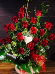 Romantic Red Rose Arrangement