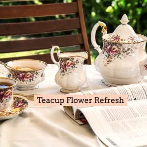 Teacup Refresh - Fresh flowers replaced in your Teacup