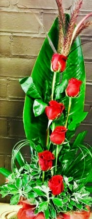 Sweet Red Roses Arrangement